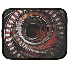 The Thousand And One Rings Of The Fractal Circus Netbook Case (xxl)