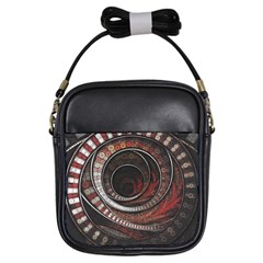 The Thousand And One Rings Of The Fractal Circus Girls Sling Bags