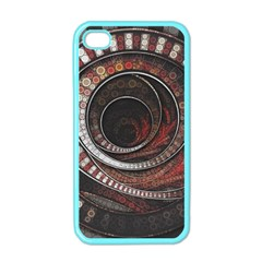 The Thousand And One Rings Of The Fractal Circus Apple Iphone 4 Case (color)