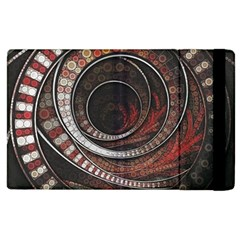 The Thousand And One Rings Of The Fractal Circus Apple Ipad 2 Flip Case