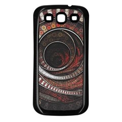 The Thousand And One Rings Of The Fractal Circus Samsung Galaxy S3 Back Case (black)
