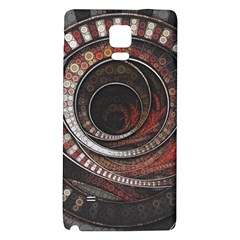 The Thousand And One Rings Of The Fractal Circus Galaxy Note 4 Back Case