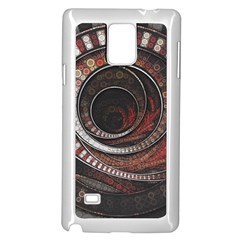 The Thousand And One Rings Of The Fractal Circus Samsung Galaxy Note 4 Case (white)