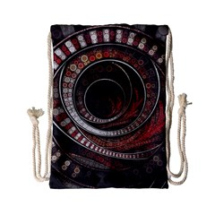 The Thousand And One Rings Of The Fractal Circus Drawstring Bag (small)