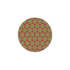 Red Green Flower Of Life Drawing Pattern Golf Ball Marker