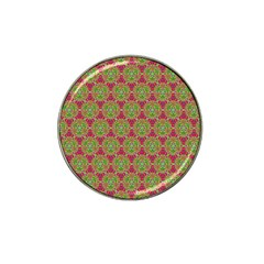 Red Green Flower Of Life Drawing Pattern Hat Clip Ball Marker (10 Pack)
