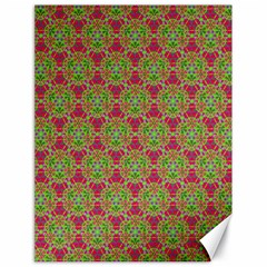 Red Green Flower Of Life Drawing Pattern Canvas 18  X 24