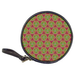 Red Green Flower Of Life Drawing Pattern Classic 20 Cd Wallets