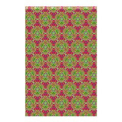 Red Green Flower Of Life Drawing Pattern Shower Curtain 48  X 72  (small)