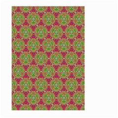 Red Green Flower Of Life Drawing Pattern Large Garden Flag (two Sides)