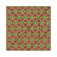 Red Green Flower Of Life Drawing Pattern Acrylic Tangram Puzzle (6  X 6 )