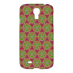 Red Green Flower Of Life Drawing Pattern Samsung Galaxy S4 I9500/i9505 Hardshell Case