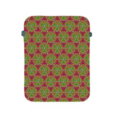 Red Green Flower Of Life Drawing Pattern Apple Ipad 2/3/4 Protective Soft Cases