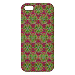 Red Green Flower Of Life Drawing Pattern Iphone 5s/ Se Premium Hardshell Case