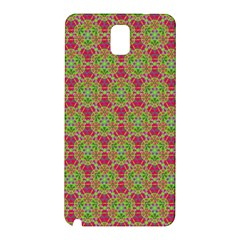 Red Green Flower Of Life Drawing Pattern Samsung Galaxy Note 3 N9005 Hardshell Back Case