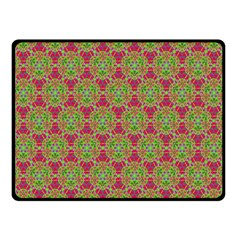 Red Green Flower Of Life Drawing Pattern Double Sided Fleece Blanket (small)