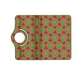 Red Green Flower Of Life Drawing Pattern Kindle Fire Hd (2013) Flip 360 Case