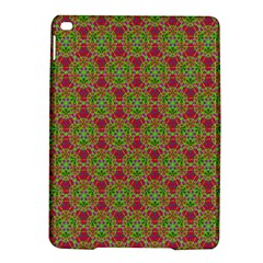 Red Green Flower Of Life Drawing Pattern Ipad Air 2 Hardshell Cases