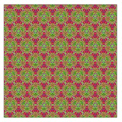 Red Green Flower Of Life Drawing Pattern Large Satin Scarf (square)
