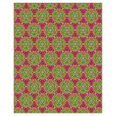 Red Green Flower Of Life Drawing Pattern Drawstring Bag (small)