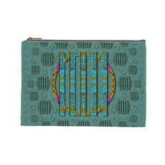Freedom Is Every Where Just Love It Pop Art Cosmetic Bag (large)