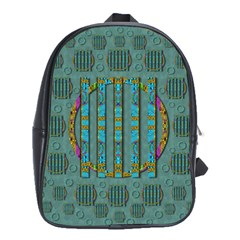 Freedom Is Every Where Just Love It Pop Art School Bag (large)