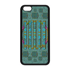 Freedom Is Every Where Just Love It Pop Art Apple Iphone 5c Seamless Case (black)