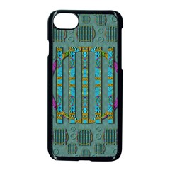 Freedom Is Every Where Just Love It Pop Art Apple Iphone 8 Seamless Case (black)