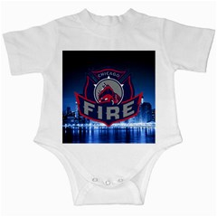 Chicago Fire With Skyline Infant Creepers