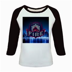 Chicago Fire With Skyline Kids Baseball Jerseys