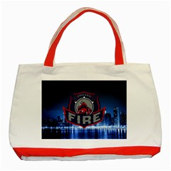 Chicago Fire With Skyline Classic Tote Bag (red)