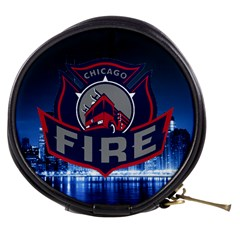 Chicago Fire With Skyline Mini Makeup Bags