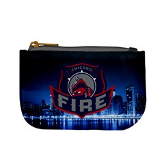 Chicago Fire With Skyline Mini Coin Purses