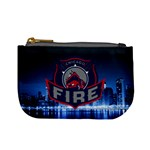 Chicago Fire With Skyline Mini Coin Purses Front
