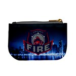 Chicago Fire With Skyline Mini Coin Purses Back