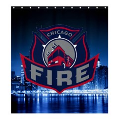 Chicago Fire With Skyline Shower Curtain 66  X 72  (large)