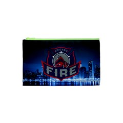 Chicago Fire With Skyline Cosmetic Bag (xs)