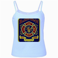 Bards Town Ky Fire Department Logo Baby Blue Spaghetti Tank