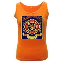 Bards Town Ky Fire Department Logo Women s Dark Tank Top