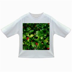 Christmas Season Floral Green Red Skimmia Flower Infant/toddler T Shirts