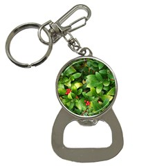 Christmas Season Floral Green Red Skimmia Flower Button Necklaces