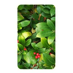 Christmas Season Floral Green Red Skimmia Flower Memory Card Reader