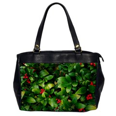 Christmas Season Floral Green Red Skimmia Flower Office Handbags