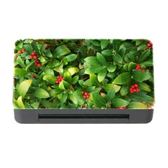 Christmas Season Floral Green Red Skimmia Flower Memory Card Reader With Cf