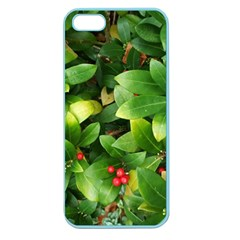 Christmas Season Floral Green Red Skimmia Flower Apple Seamless Iphone 5 Case (color)