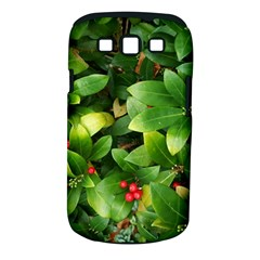 Christmas Season Floral Green Red Skimmia Flower Samsung Galaxy S Iii Classic Hardshell Case (pc+silicone)