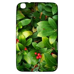Christmas Season Floral Green Red Skimmia Flower Samsung Galaxy Tab 3 (8 ) T3100 Hardshell Case
