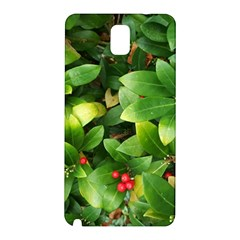 Christmas Season Floral Green Red Skimmia Flower Samsung Galaxy Note 3 N9005 Hardshell Back Case