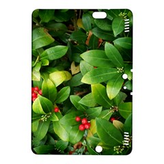 Christmas Season Floral Green Red Skimmia Flower Kindle Fire Hdx 8 9  Hardshell Case