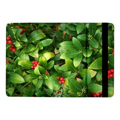 Christmas Season Floral Green Red Skimmia Flower Samsung Galaxy Tab Pro 10 1  Flip Case